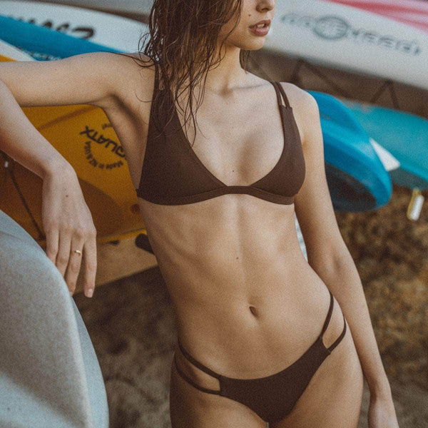 Tingle Bikini Bottom in Mocha - the sea collective