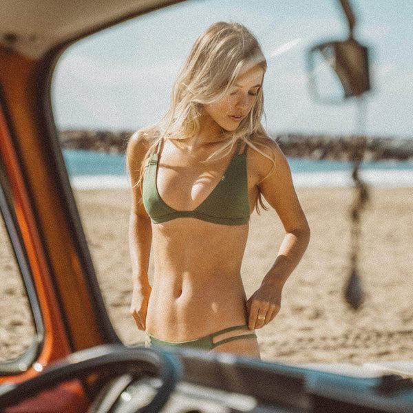 Tingle Bikini Bottom in Olive - the sea collective