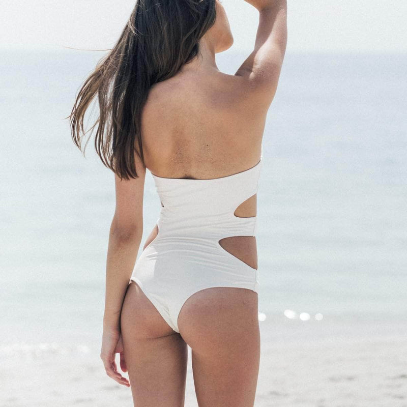 Dunes One Piece Swimsuit in Raw - the sea collective