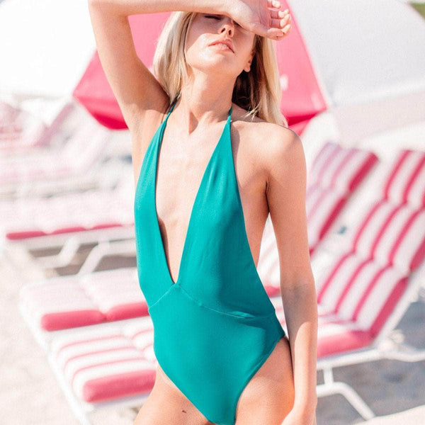Foxy One Piece Swimsuit in Pacific - the sea collective