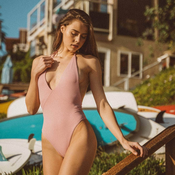 Hills One Piece Swimsuit in Blush - the sea collective