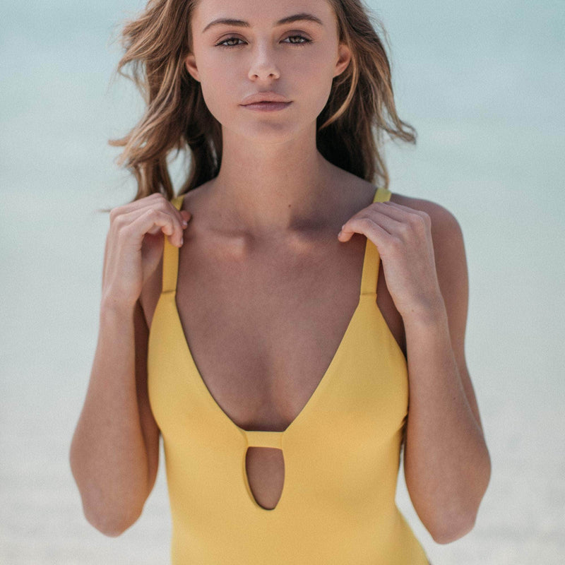 Manhattan One Piece Swimsuit in Banana - the sea collective