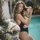 Manhattan One Piece Swimsuit in Black - the sea collective