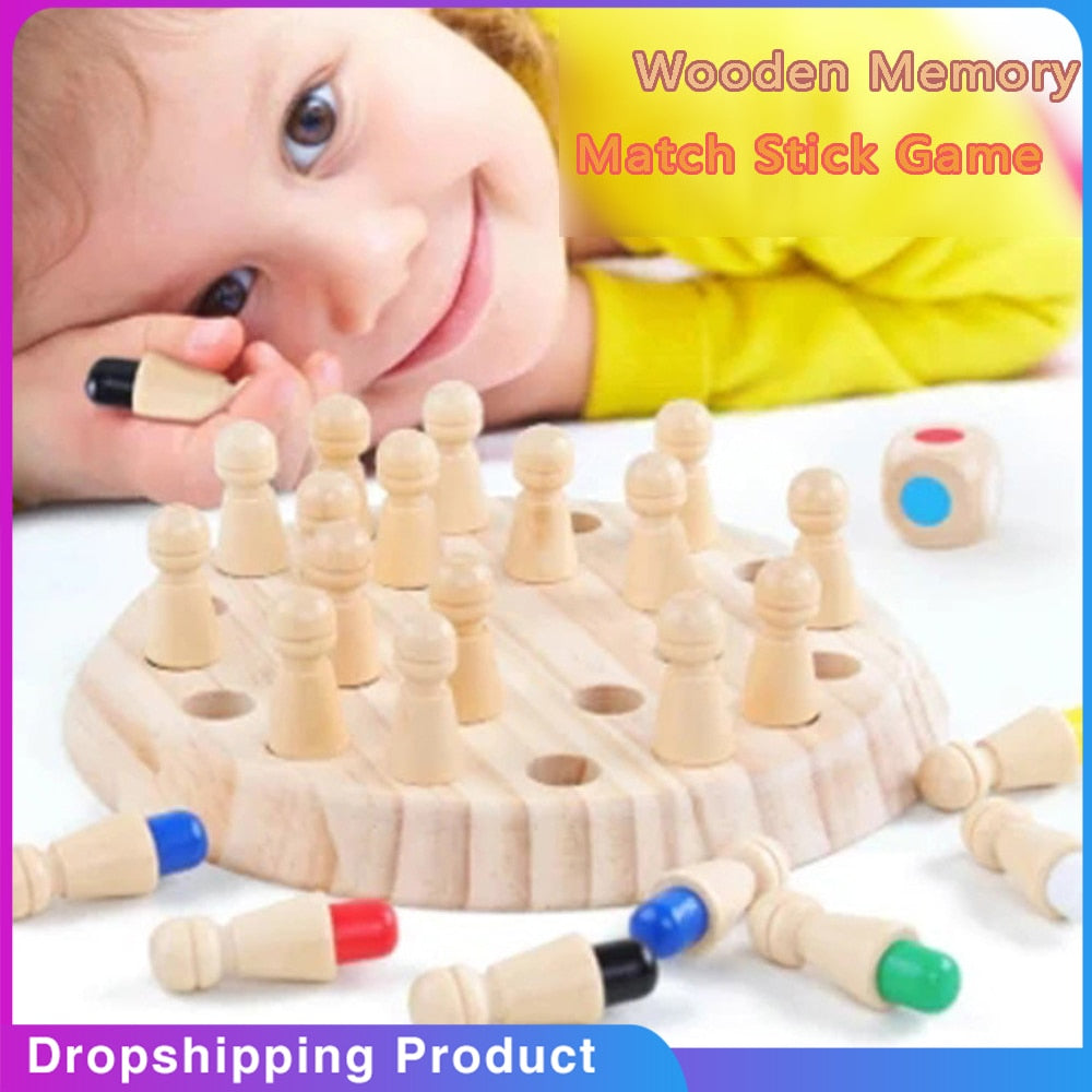 WOODEN MEMORY MATCH STICK CHESS  [HOT SALE]