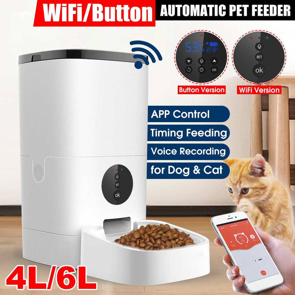 Wireless Automatic Pet Feeder Smart Cat Dog Food Dispenser