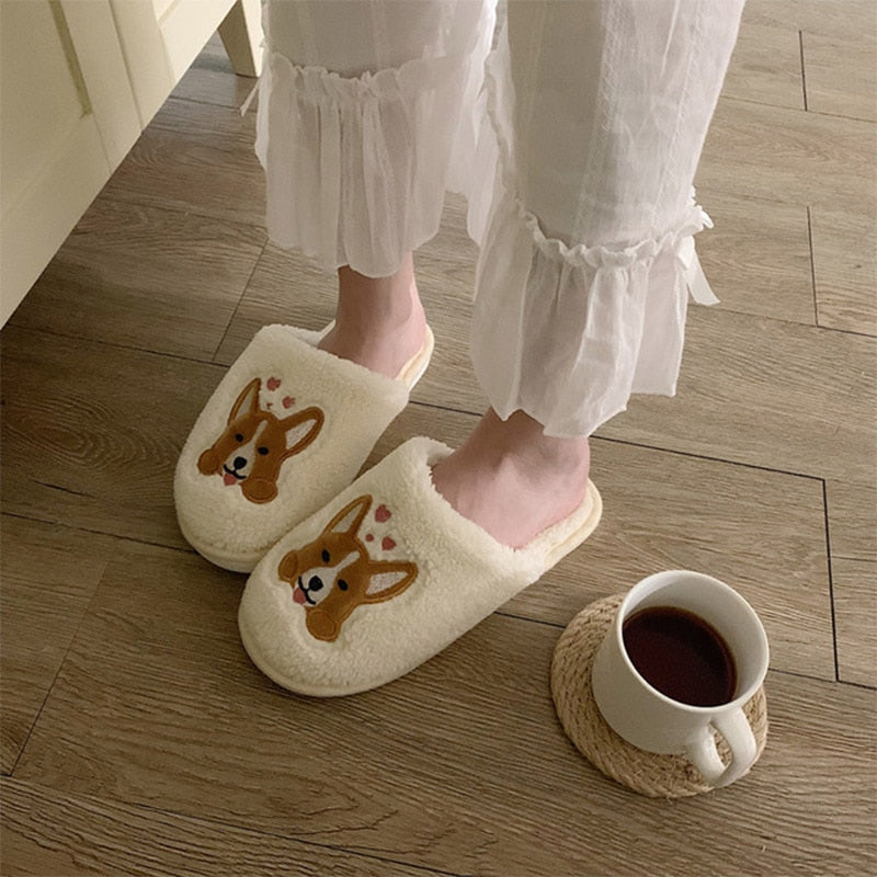 PRODSOLVING™ Women Warm Slippers Cute Corgi
