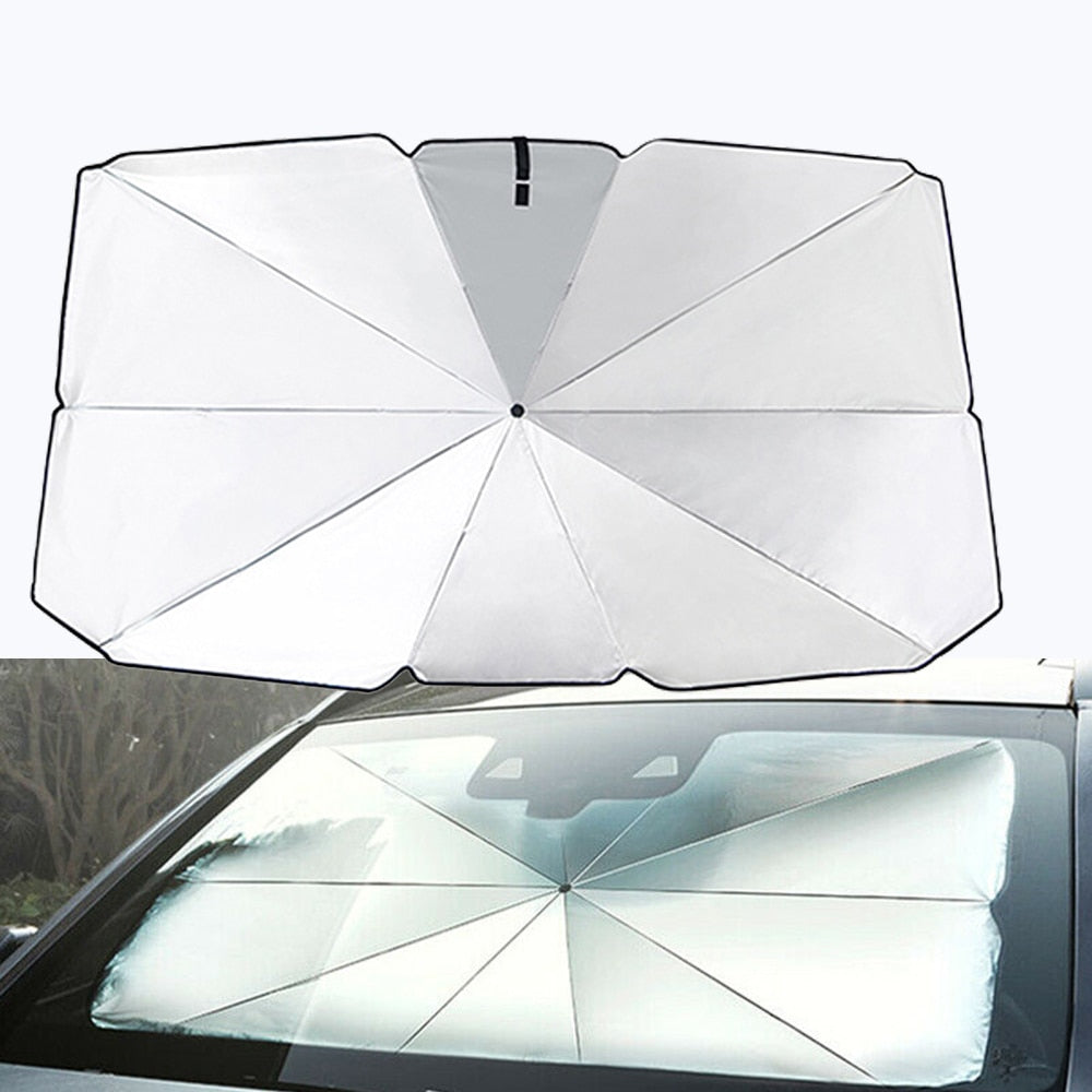 FOLDABLE CAR SUNSHADE-BLOCK HEAT UV