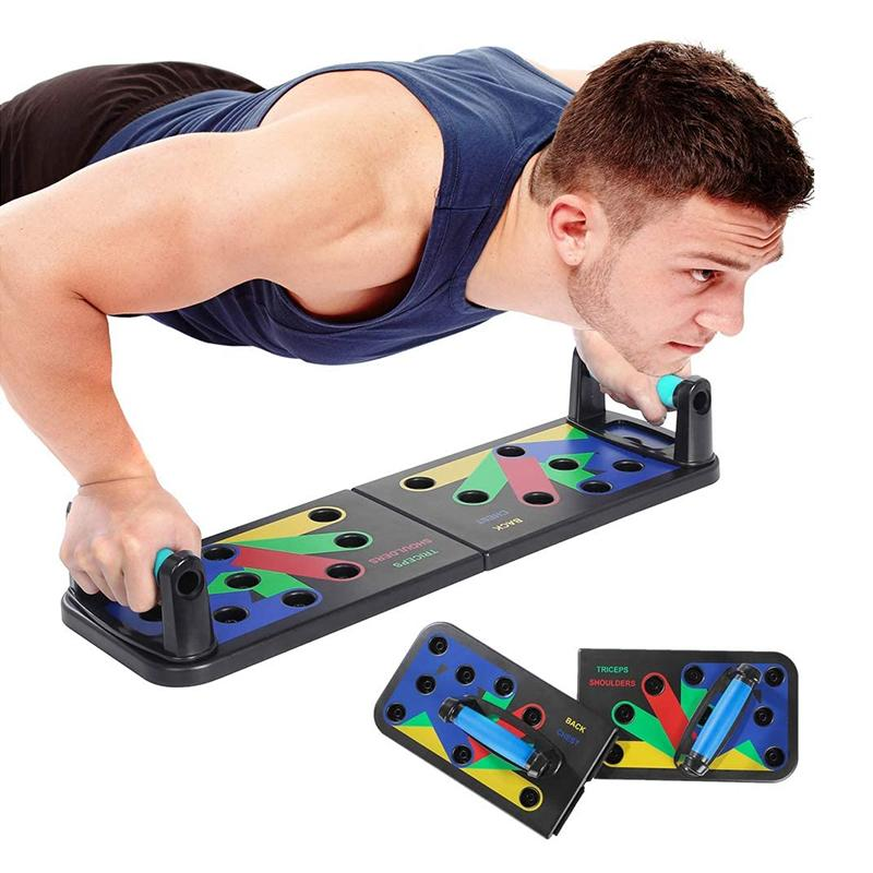9 in 1 Push Up Rack Board ABS abdominal Muscle Trainer Comprehensive - PRODSOLVING