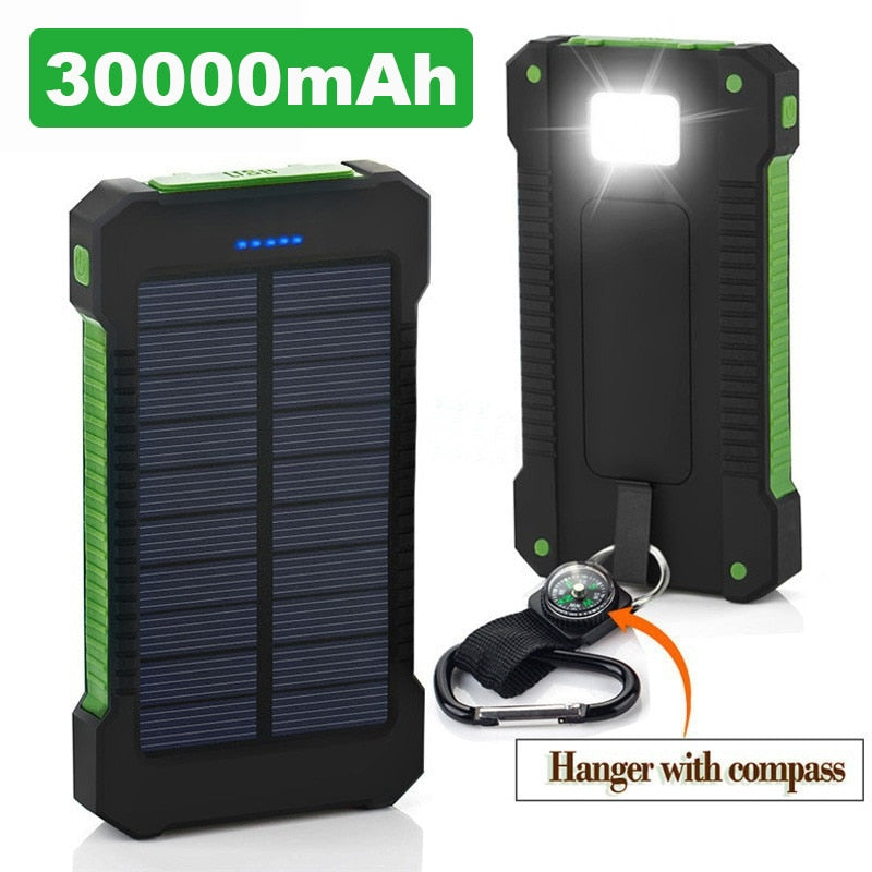 Solar Power Bank Waterproof 30000mAh