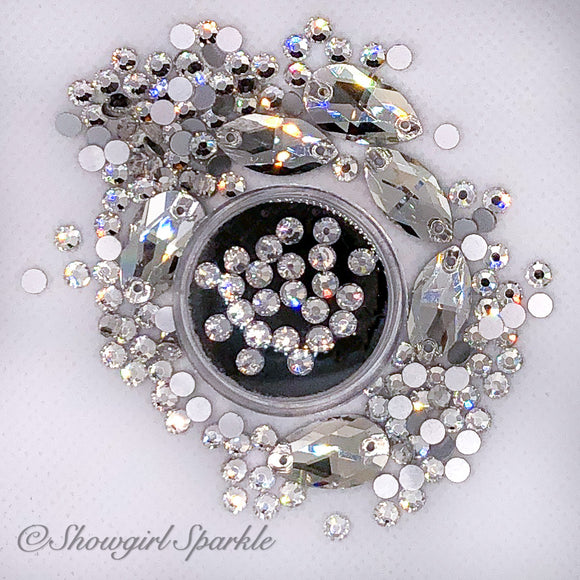 Crystal Clear Rhinestones are a Showgirl's Best Friend!