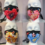 Cloth Mask Can-Can Collection - Red Showgirl Fabric Mask - Showgirl Sparkle
