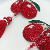 Bespoke Pasties Cherries Jubilee Crystal Rhinestone Burlesque Pasties with or without Tassels - Showgirl Sparkle