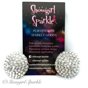 "Ready-to-Wear Pasties 1.25"" Classic Crystal Pasties - Ready to Wear - Showgirl Sparkle"