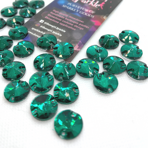 Fancy Shape Gems Emerald Rivoli Flatback Glass Gems - Showgirl Sparkle