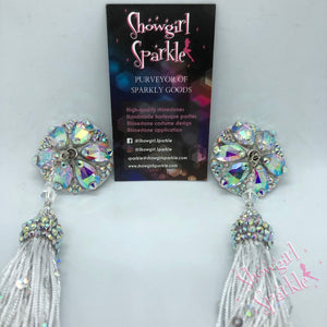 Bespoke Pasties Follies Crystal Rhinestone Burlesque Pasties with or without Tassels - Showgirl Sparkle