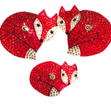 Bespoke Pasties Fox Crystal Rhinestone Burlesque Pasties (with or without Tassels) - Showgirl Sparkle