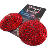 "Ready-to-Wear Pasties 1.75"" Classic Light Siam Pasties - Ready to Wear - Showgirl Sparkle"