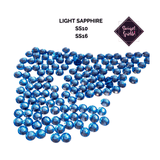 Rhinestones Light Sapphire Flatback Glass Rhinestones - Showgirl Sparkle