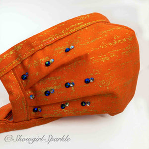 Cloth Mask Orange Crush Fabric Mask - Showgirl Sparkle