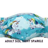 Cloth Mask Rainbow Unicorns Fabric Mask - Showgirl Sparkle