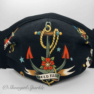 Cloth Mask Ships and Seas Fabric Mask - Hold Fast - Showgirl Sparkle