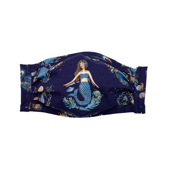 Cloth Mask Shy Mermaid Fabric Mask - Showgirl Sparkle