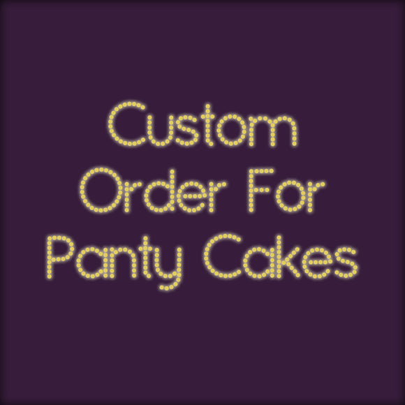 Custom Work Special Order Tassels for Panty Cakes - Showgirl Sparkle