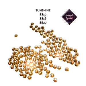 Sunshine Flatback Glass Rhinestones Showgirl Sparkle