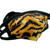 Cloth Mask Tiger Fabric Mask with Black Trim - Showgirl Sparkle