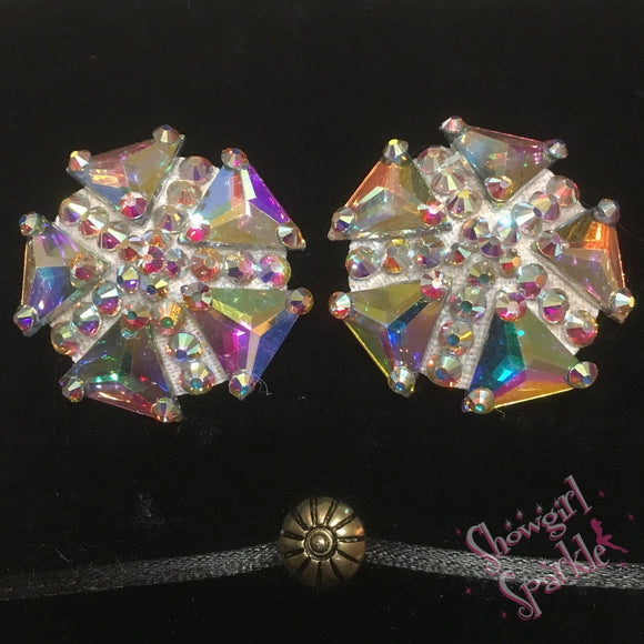 Bespoke Pasties Zenith Crystal Rhinestone Burlesque Pasties (with or without Tassels) - Showgirl Sparkle