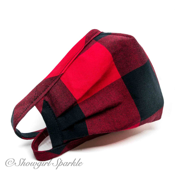 Cloth Mask Buffalo Plaid Fabric Mask - Showgirl Sparkle