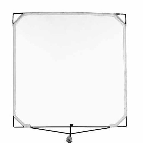 "Matthews Solid Frame Scrim White Artificial Silk (48 x 48"")"