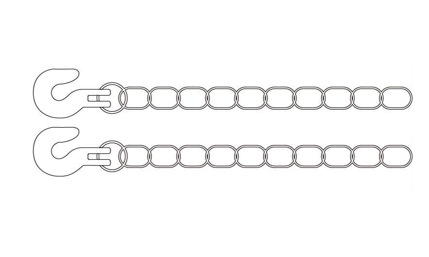Metal Trailer Chain 1M | SY101-022