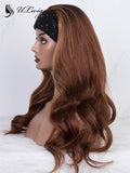 Ombre Brown Color Wavy Best Virgin Human Hair Headband Wig  ULWIGS165