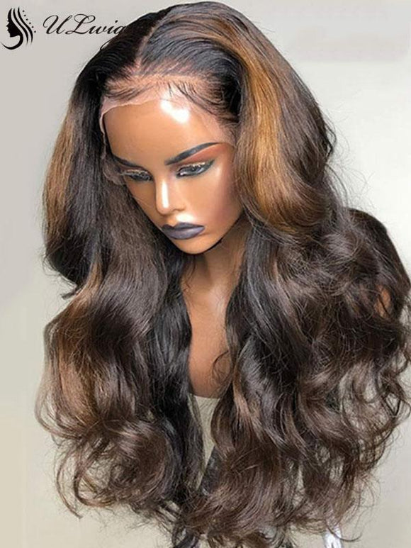 100% Virgin Hair Mix Color Body Wave Thick Lace Front Wigs ULWIGS109 - ULwigs