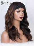 Highlight Color Best Virgin Human Hair Headband Wig ULWIGS164
