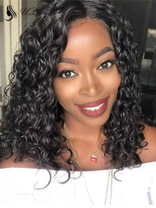 Best Virgin Hair Deep Wave 13*6 Lace Front Wig Preplucked Human Hair Wig Bleached Knots HD Lace ULWIGS123