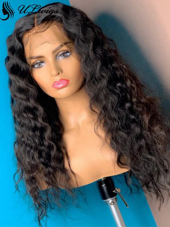 HD Invisible Lace Best Virgin Hair Wave  Lace Front Wig ULWIGS91 - ULwigs