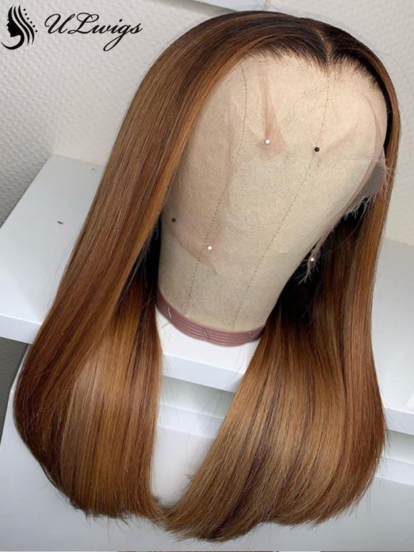 Highlight #27 Color Straight Virgin Human Hair 13*4 Lace Front Wig [ULWIGS64] - ULwigs