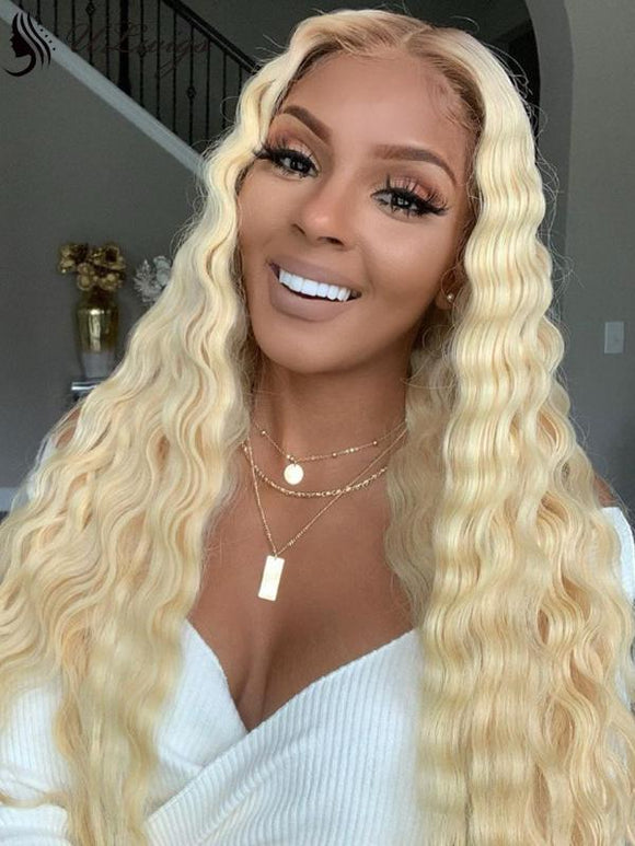 Ombre #613 Blonde Color Deep Wave 150% Density Lace Front Wig [ULWIGS68] - ULwigs