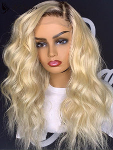 T1b/613 Blonde Color Body Wave Best Virgin Hair Lace Front Wig [ULWIGS72] - ULwigs