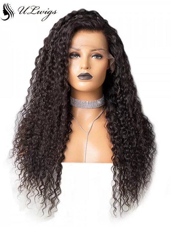 The Caribbean Glueless Curly Lace Front Wig Virgin Human Hair With Fake Scalp ULWIGS104 - ULwigs