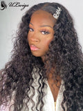Undetectable Lace Curly Virgin Human Hair Black Color 360 Wig ULWIGS87 - ULwigs