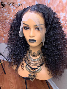 Undetectable Lace Short Bob Big Curly 13*6 Lace Front Wigs With Bleached Knots [ULWIGS10] - ULwigs