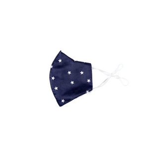 Premium Stitch Navy with White Star Mask