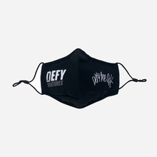 Load image into Gallery viewer, Defy Ventures Black on Black Premium Stitch Face Mask