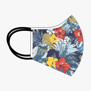 Premium Stitch Blue Floral Mask