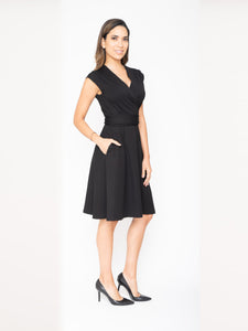 Business Casual Wrap Dress