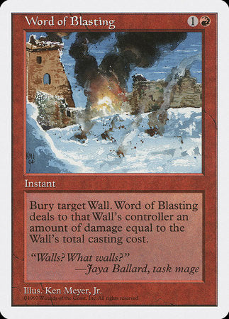 Word of Blasting [Fifth Edition]