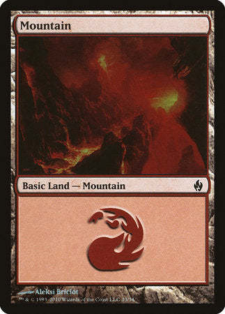 Mountain (33) [Premium Deck Series: Fire and Lightning]